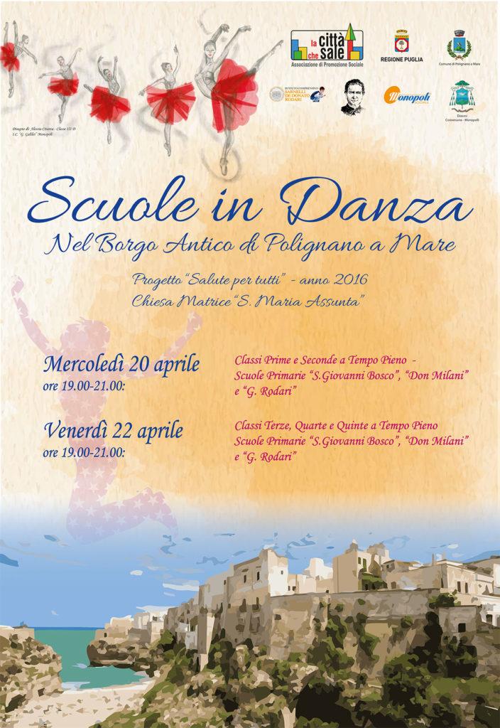 Locandina Scuole in Danza nel Borgo Antico di Polignano a Mare 2016
